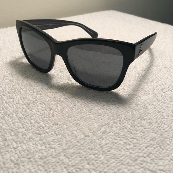 7590a7cd38 CHANEL Accessories | 5380 C160826 Black And Gray Sunglasses | Poshmark